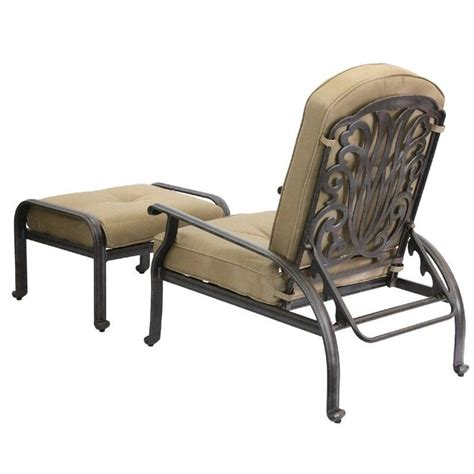 Patio Chair And Ottoman Darlee Elisabeth Adjustable Patio Chair And Ottoman In Antique Bronze Dl709 1 101