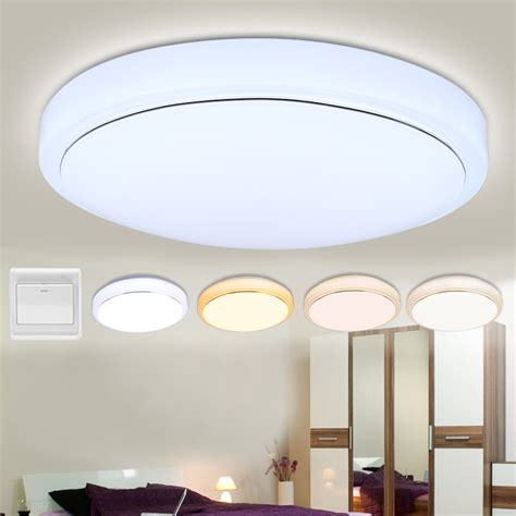 Kitchen Led Ceiling Lights 18w Led Ceiling Light Flush Mounted Fixture L Living Bedroom Kitchen Us Ebay