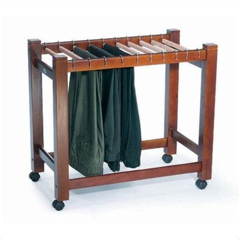 rubbermaid clothes closet wooden pant trolley trouser rack