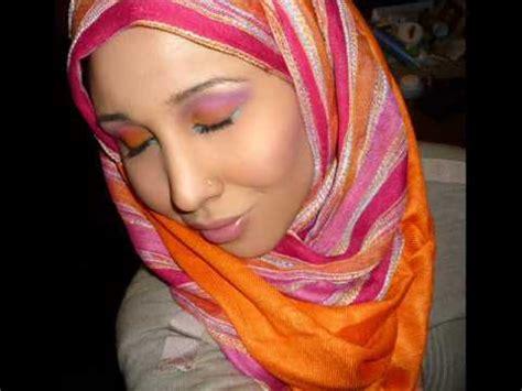 tutorial hijab arab saudi arabian pink sunset hijab makeup tutorial steps youtube