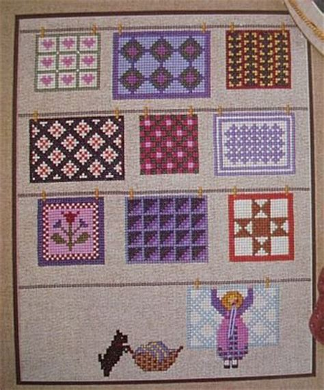 cross stitch pattern clothes line quilts on the line cross stitch pattern leaflet