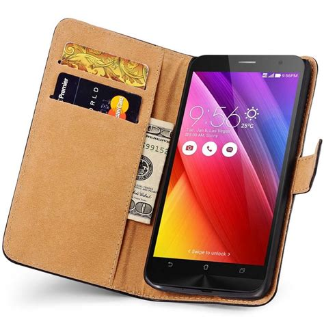 Best Leather N Cover Wallet Asus Zenfone 2 5 5 Inch zen fone 2 wallet genuine leather for asus zenfone 2 5 5 ze551ml ze550ml phone bag cover