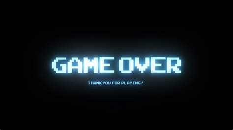 wallpaper game over hd game over retro arcade digital blue style 1 motion