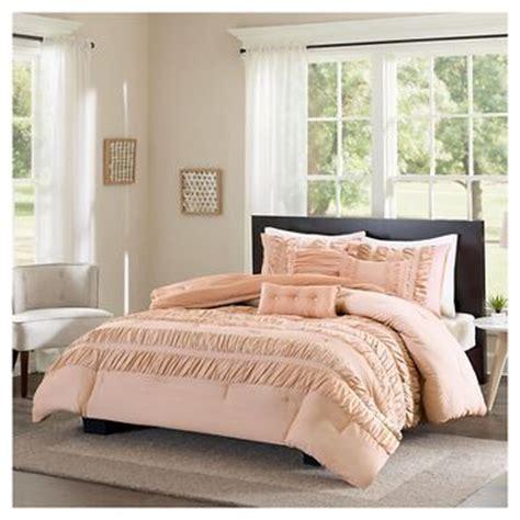 blush colored bedding blush pink comforter set target