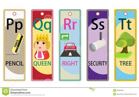 printable educational bookmarks kids alphabet educational bookmarks collection p t stock