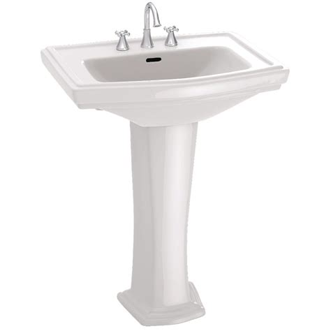 toto clayton pedestal sink toto clayton 27 in pedestal combo bathroom sink with 4 in