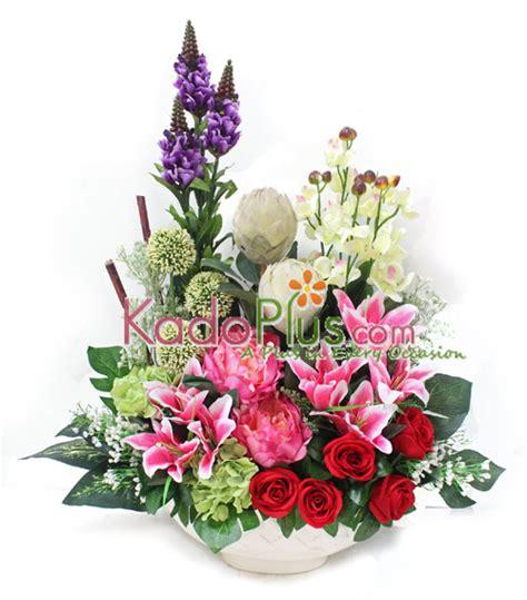 Supplier Grosir Flower Cantik Bunga Plastik Hias Artificial Artifisial 15 Bunga Artificial Indobeta