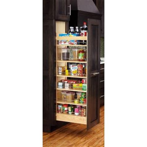 Home Depot Pantry Shelves by Rev A Shelf 51 In H X 8 In W X 22 In D Wood Pull Out Cabinet Pantry Organizer 448 Tp51 8