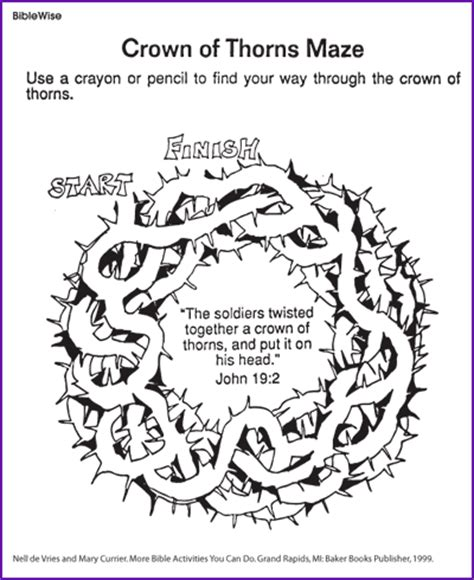 coloring pages jesus crown of thorns crown of thorns maze coloring page crown of thorns