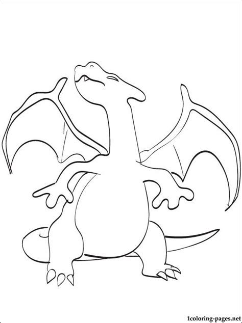 Free Coloring Pages Of Pokemon Pokemon Charizard Charizard Coloring Page