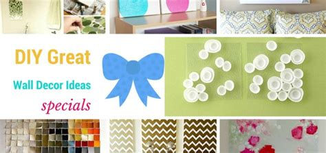 Handmade Wall Ideas - 15 great diy wall decor ideas to make walls amazing