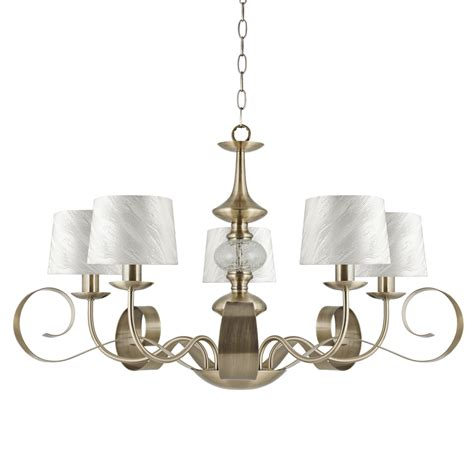 5 Light Ceiling Light by Ajp Lighting 3065la 5pcu 5 Light Ceiling Light Antique Brass Finish With Shades