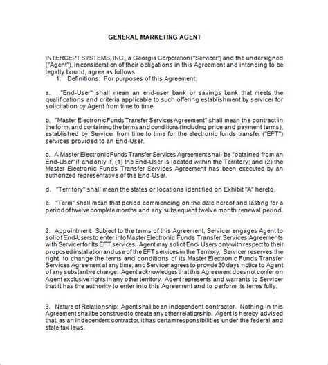 booking agent contract templates  word  documents   premium templates