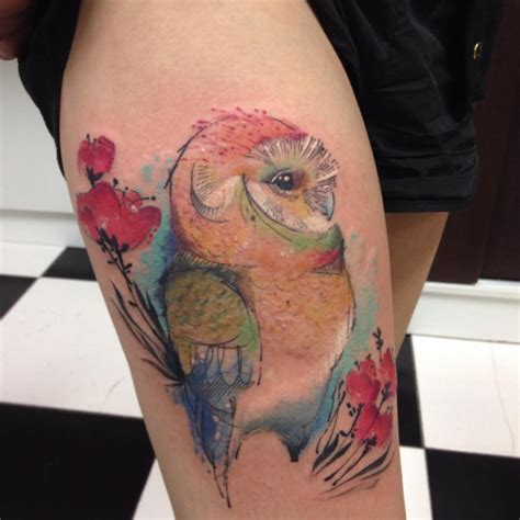 owl watercolor tattoo 47 best owl tattoos of all time tattooblend
