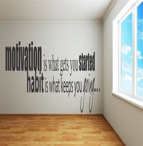 motivational quotes wall stickers adhesive wall decals motivation is what gets you