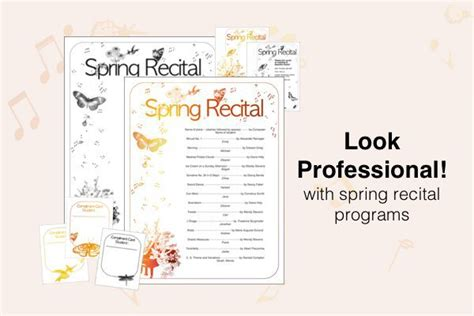 Free Recital Templates Look Sharp Composecreate Com Recital Program Template