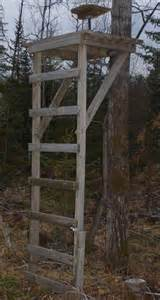 Raised Hunting Blinds Free Ladder Deer Hunting Stand Plans