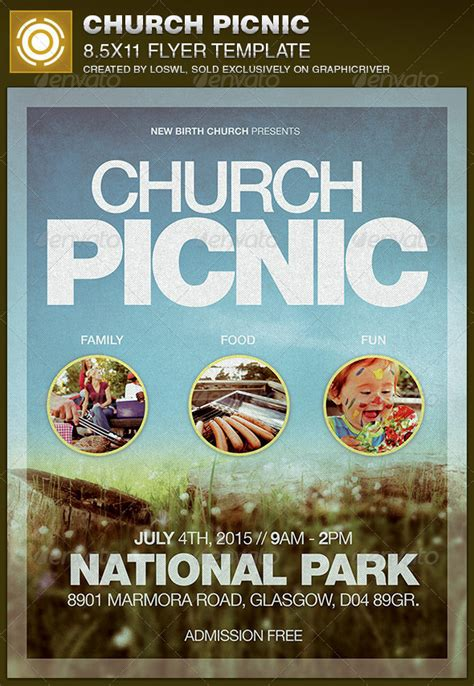 Church Picnic Flyer Template By Loswl Graphicriver Free Church Picnic Flyer Templates