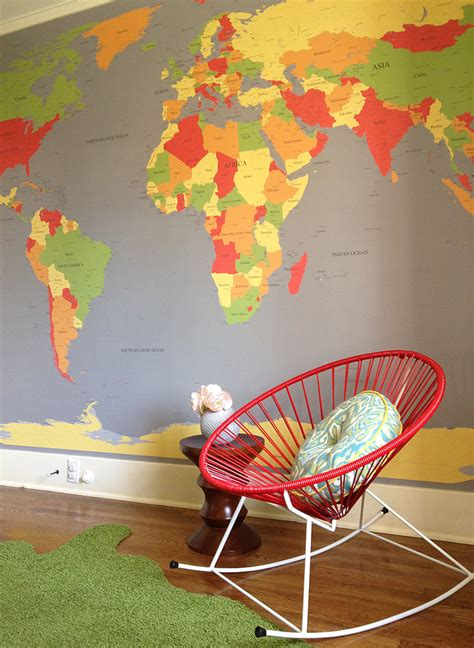 7 beautiful world map decor ideas for walls remarkable large world map wall decal decorating ideas