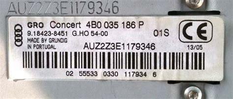 Audi Code Eingeben by Code Audi Concert Ecoustics
