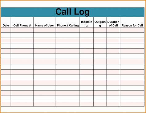 phone call tracking spreadsheet db excelcom