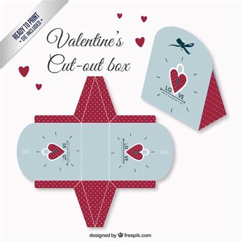moldes de cajitas para san valentin pareja en san valent caja de san valent 237 n en color rojo y azul descargar