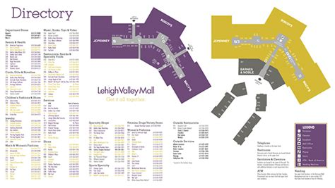 Layout Of Lehigh Valley Mall | lehigh valley mall directory on behance