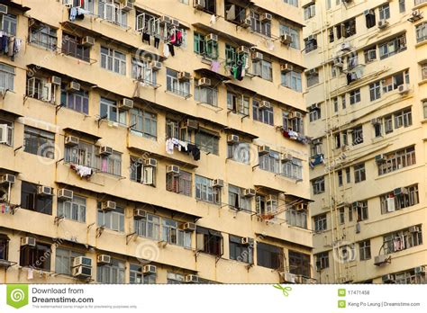 appartments in hong kong old apartments in hong kong royalty free stock photos