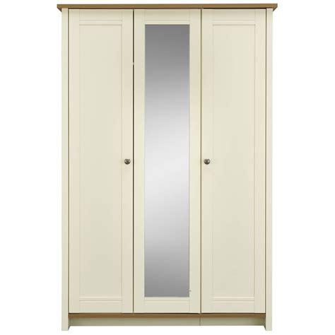 clovelly 3 door centre mirror wardrobe deal at wilko