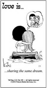 Love is comics by kim love is sharing the same dream
