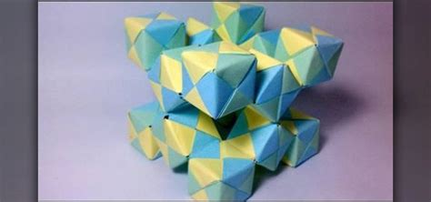 Origami Moving Cubes - how to create a 3d origami moving cube with jo nakashima