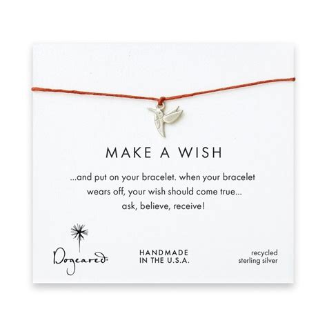 Dogeareds Make A Wish Necklaces by Dogeared Make A Wish Bracelet With Sterling Silver Sweet