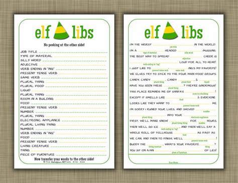 printable elf trivia elf libs movie quotes printable christmas party game