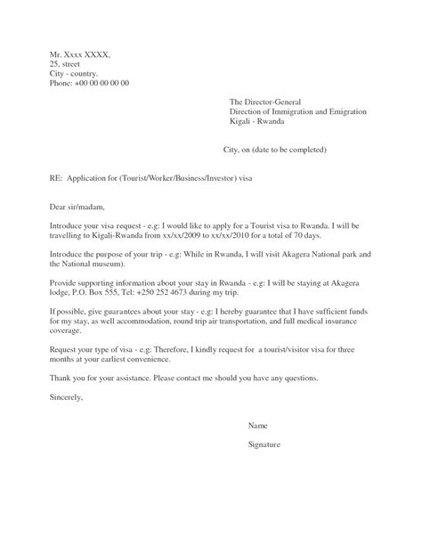 Invitation Letter For Visa Rwanda Tourist Visa Application Letter To Embassy Pdfeports867 Web Fc2