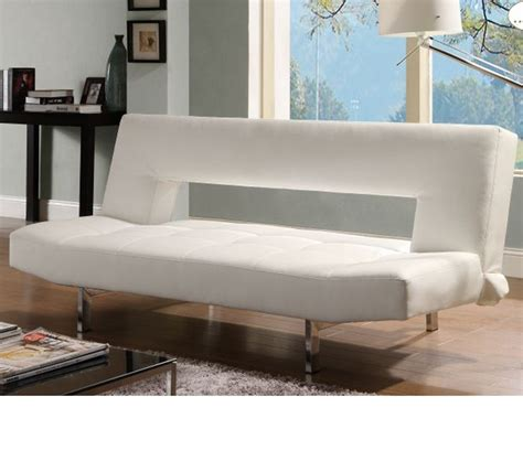 elegant sofa bed dreamfurniture com 4805wht drake elegant sofa bed white
