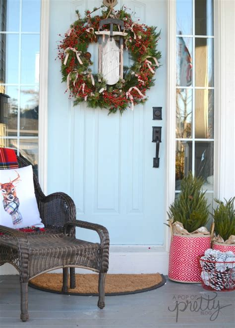 home decor blogs canada rustic christmas front porch wicker emporium a pop of