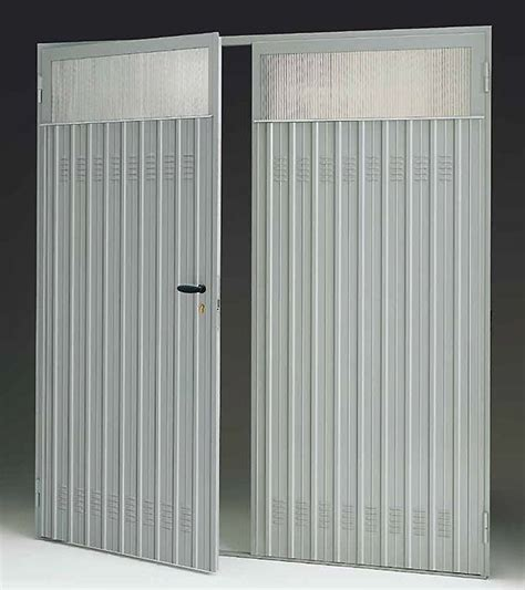 porte in lamiera zincata porta in lamiera 2 ante per garage bologna