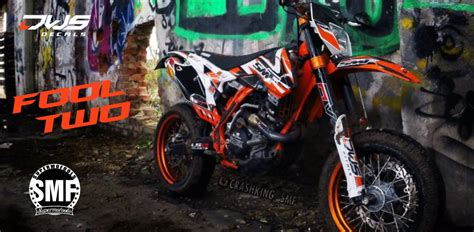 Wallpaper Sticker 125 ktm smf exc 125 250 350 450 500 2014 2016 fool two dws decals