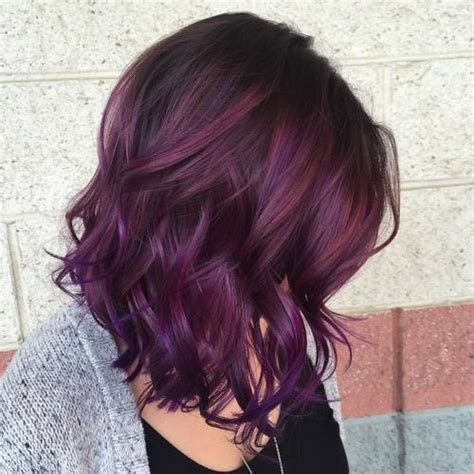 brunette hairstyles with purple highlights 40 versatile ideas of purple highlights for blonde brown
