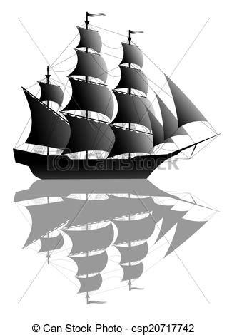 dessin bateau noir bateau noir voile noir bateau blanc vieux isol 233