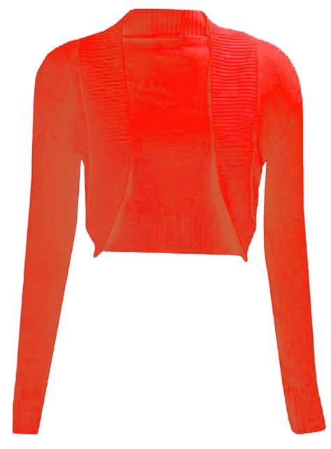 Bolero Cardigan new plain sleeve knitted bolero womens shrug cardigan top ebay