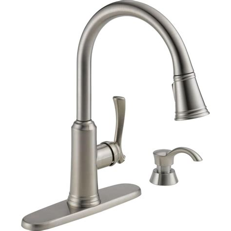 delta kitchen faucets with soap dispenser