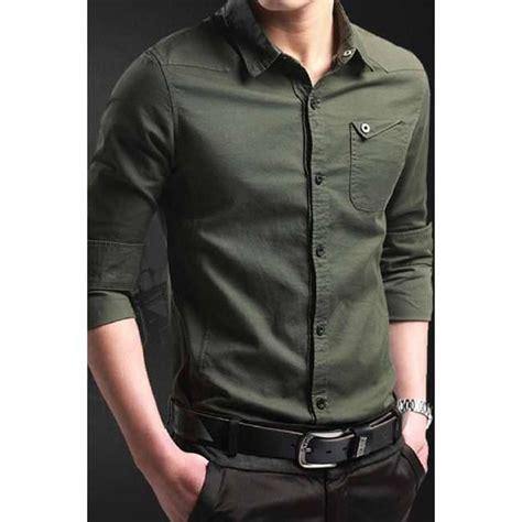 Pakaian Pria Kemeja Slimfit Two Tone Black Maroon kemeja pria slim fit keren trend fashion pria model 2017 miller collection elevenia
