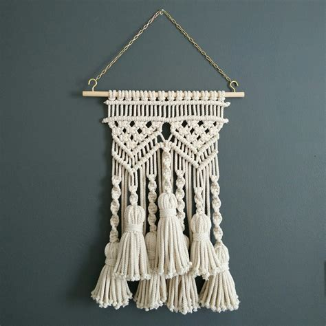 Pictures Of Macrame - tassel macrame wall hanging macram 233 bohemian weaving wall