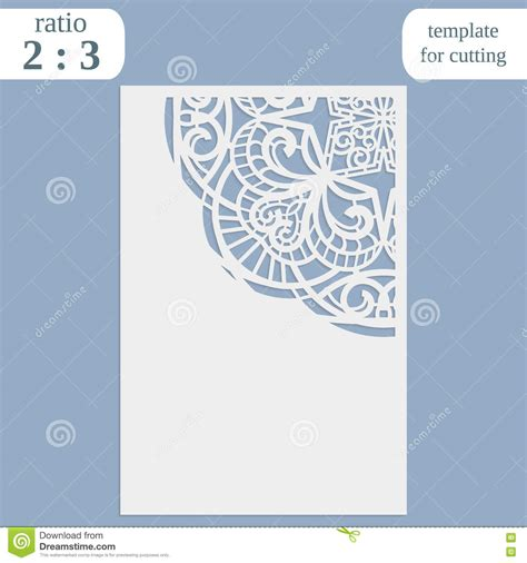 laser cut greeting card template laser cut wedding card template paper openwork greeting