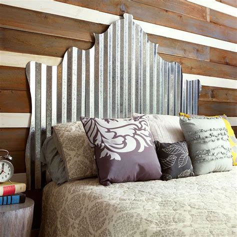 Corrugated Tin Headboard by Cheap And Chic Diy Headboard Ideas Diy Headboards Fences And Corrugated Metal