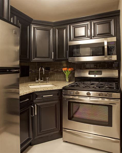 kitchen backsplash colors santa cecilia granite with dark cabinets backsplash ideas