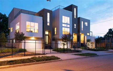 Modern Apartments In Tx Rice Modern Homes Museum District Townhomes