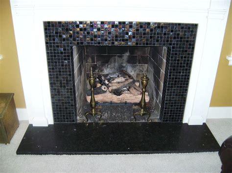 Knapp Tile  Flooring  Glass Tile Fireplace Surround