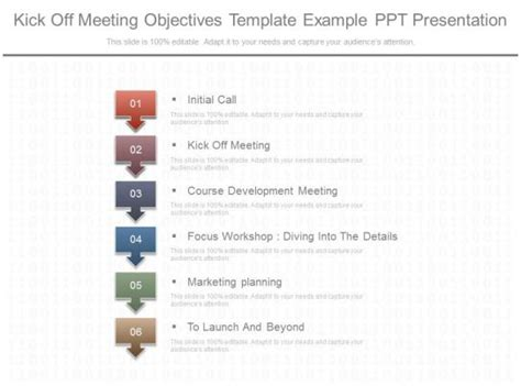 view kick  meeting objectives template